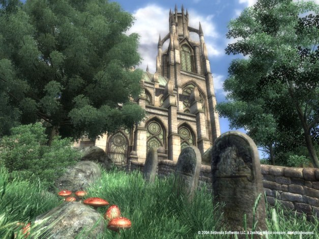 One of the very first screenshots for Oblivion on Xbox 360